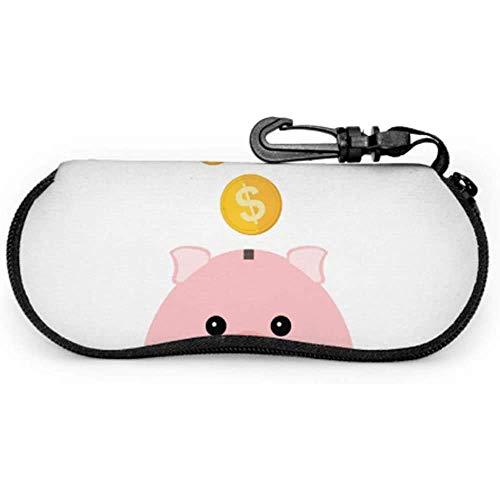 2019 Mascot - Estuche para gafas de sol para niños con diseño de cerdo