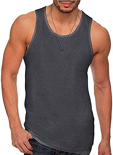 Marshall Darren Men's Fitted Vests Muscle Gym Workout Tank Tops Active Sleeveless Sweat T-Shirts Tops