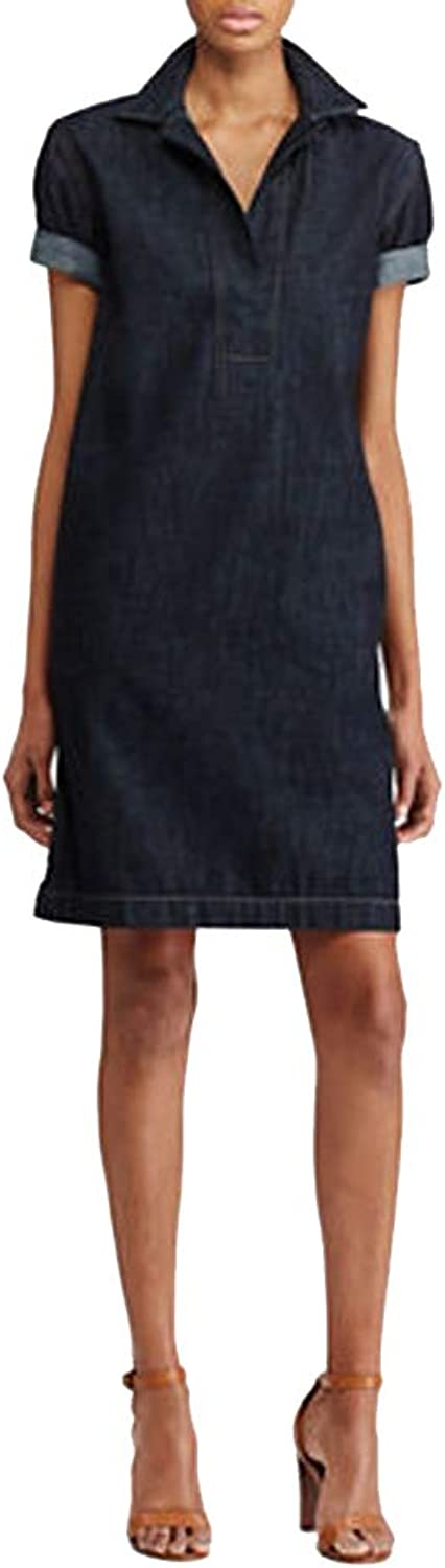 Lauren Ralph Lauren Petite Cotton Denim Shift Dress