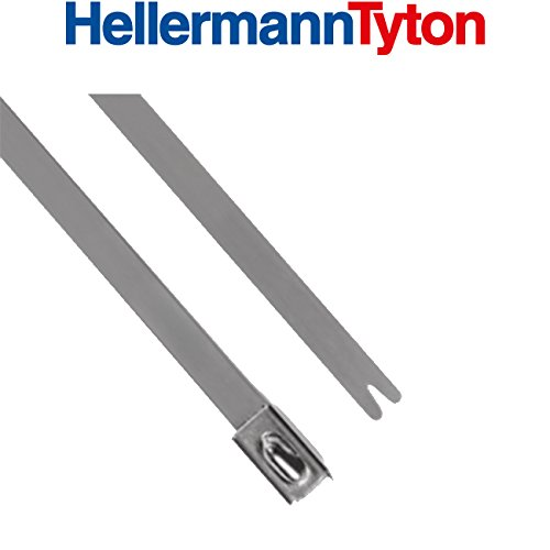 Hellermann bridas-sist. de fixation – Bride Acier Inoxydable mbt8ss 201 x 4,6 SS304 100