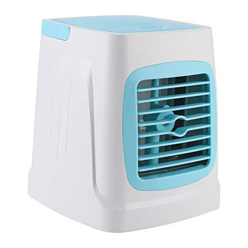 Mini Aire Acondicionado pequeño, Aire Acondicionado USB Ligero Colorido del LED, Acampar casero para la Cocina de la Oficina(Sky Blue)