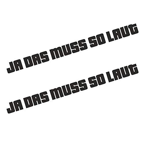 Adhesivo para coche, diseño con texto en alemán
