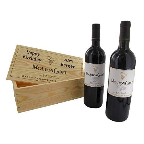 Das Mouton-Rothschild Rotwein-Duo - 2 Flaschen Mouton-Cadet 2014 mit Ihrer individuellen Personalisierung