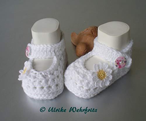 Babyschuhe Ballerinas Baby Häkelschuhe Taufschuhe
