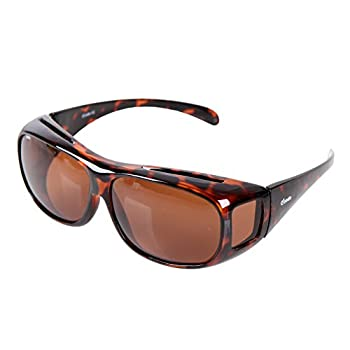 Yodo Fit Over Glasses Sunglasses with Polarized Lenses for Men and Women Leopard