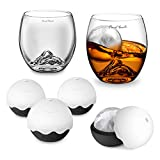 Final Touch 6 Piece On The Rock Glass Gift Set - 2 Glasses & 4 Silicone Ice Moulds (GS306)