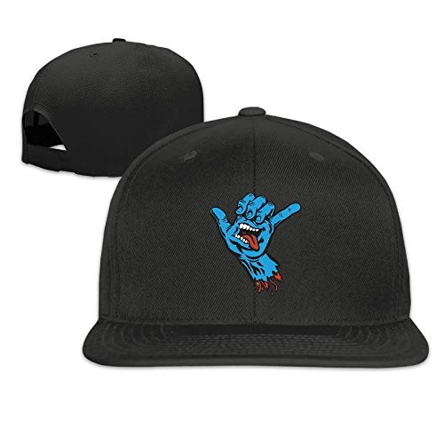 Youaini Santa Cruz Skateboards Shaka Hand Sticker Hip Hop Hat Cap One Size for Baseball Caps Black