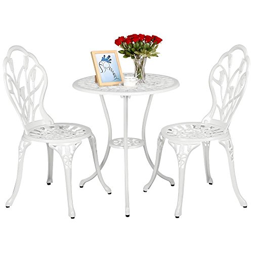 Yaheetech Outdoor Setting Cast Bistro Table Chair...