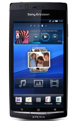 Sony Ericsson Xperia arc S Smartphone (10.7 cm (4.2 Zoll) Touchscreen, 8.1 Megapixel Kamera, Android 2.3 OS, 1GB Speicher) midnight blue