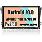 AWESAFE Android 10.0 [2GB+32GB] 9 Pulgadas Radio Coche con Pantalla Táctil para VW, Autoradio para VW con 4G/WiFi/GPS/Bluetooth/RDS/USB/FM Am, Admite Mandos del Volante y Aparcamiento