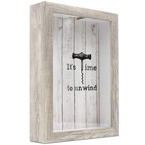 Lawrence Frames Shadow Boxes Wine Cork Holder, 9x12, Natural