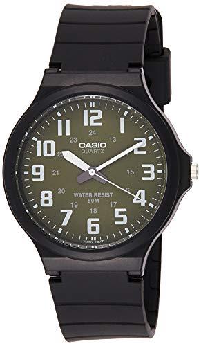 Casio Mw-240-3bv Reloj Analógico para Hombre Caja De Resina Esfera Color Verde