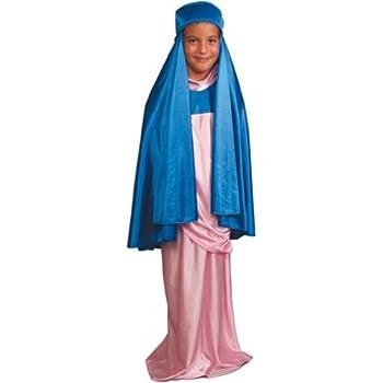 Disfraz de Virgen Maria para niña - 7 - 9 años: Amazon.es ...