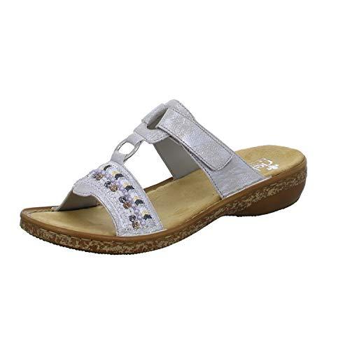 Rieker Damen 628M6 Sandale, Grau, 42 EU