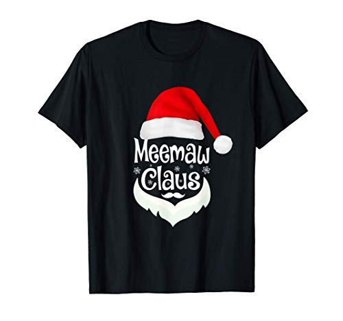 Meemaw Claus Christmas T-Shirt Pajamas Santa Costume Gift T-Shirt