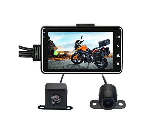 Appareil Photo Moto Caméra Pilote HD Night Vision 720P Double Objectif Étanche Voiture Enregistreur