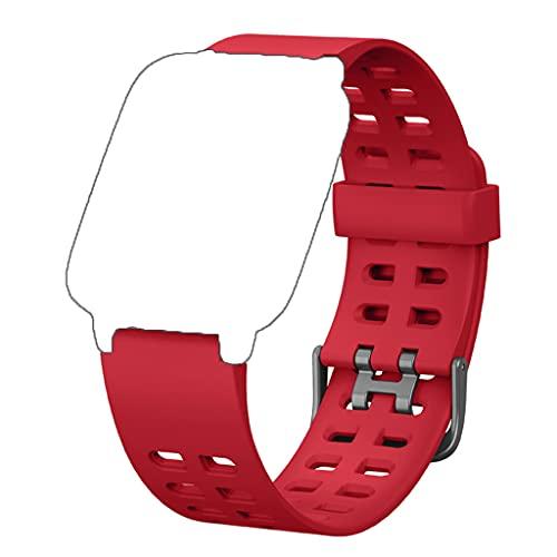 Correas Repuesto para ID205L, Durable y Suave Silicona Banda Correa de Reemplazo (23mmm) compatible con Pulsera Reloj Inteligente ID205, ID205L, ID205S Universal (Rojo)