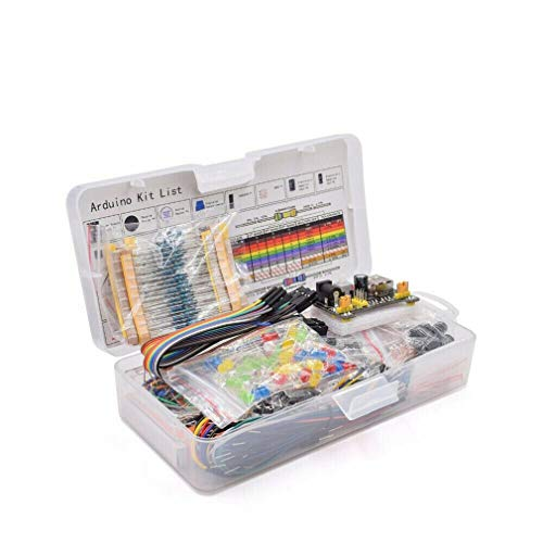 #N/V Electronic Component Assorted Kit for Arduino Raspberry Pi STM32 with 830 Tie-points Breadboard Power Supply Set