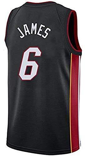 GIHI Camiseta De La NBA para Hombre - Camisetas De Miami Heat NBA 6# Lebron James - Ropa De Entrenamiento De Baloncesto De Malla Bordada Retro,B,M(170~175CM/65~75KG)