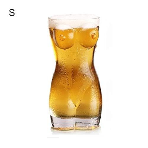BovoYa Bierkrug Sexy Bierglas Frauenkörper Kreative Körperform Glas Tasse Bier für Dame und Mann