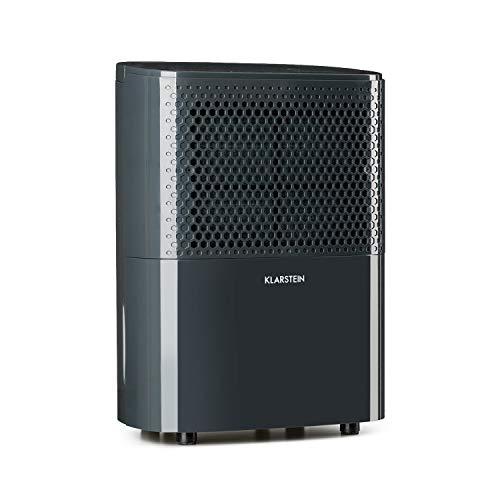 Klarstein DryFy 10 Luftentfeuchter Raumentfeuchter (240 Watt, 10 Liter / 24h, für 15-20 m² (bis 50 m³) Raumgröße, Silent-Modus, 40 dB leise) anthrazit