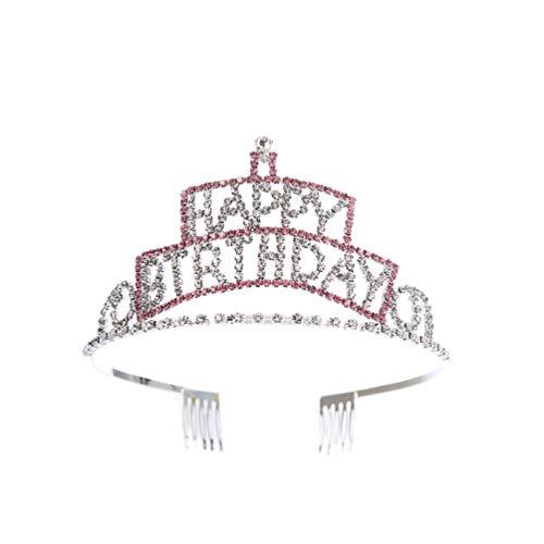 Review TENDYCOCO Girls Birthday Tiara Crown Princess Rhinestone Crystal Headband Kids Birthday Party...