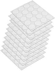 Emuca 4026415 Cap Cover Schroef Diameter 13 mm, zelfklevend, wit, Set van 200 stuks