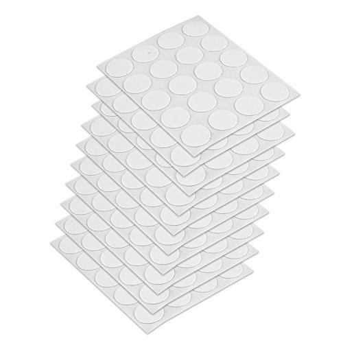 Emuca 4026415 selbstklebende Abdeckungen, Ø13mm, Weiß, Set je 200 Stück, 13 mm