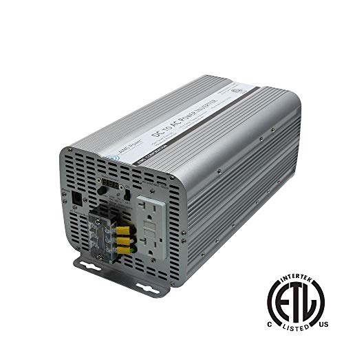 AIMS Power 3000 Watt Modified Sine Power Inverter 12Volt DC to 120 Volt AC ETL Certified to UL 458 with GFCI Outlets and AC Terminal Block