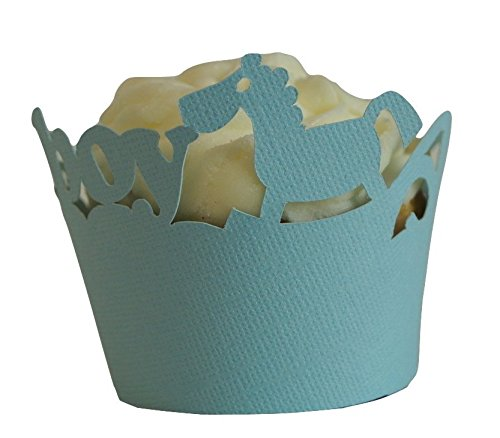 All About Details Blue Lagoon It's-a-boy Cupcake Wrappers, Set of 12