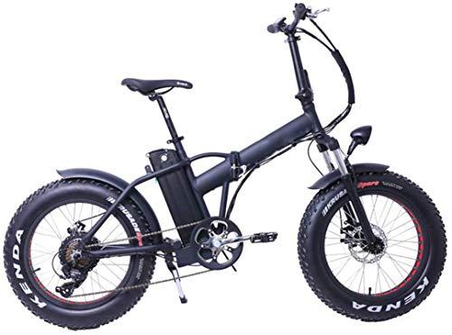 Bici electrica, Plegable bicicleta eléctrica de 20 pulgadas bicicleta eléctrica 36v 10.4ah extraíble de iones de litio E-bici con motor 500w y 6 Suspensión velocidad marchas del intervalo por fuente d