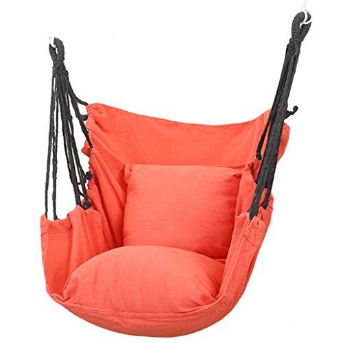 zxb-shop schaukel Hängematte Swing Chair mit Kissen Hängen Stuhl Innen- und Außenhängematte Sitzstuhl Verdickung Faules Wiege Stuhl Swing (7 Farben) Schaukelsitz (Color : C)