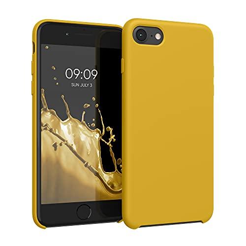 kwmobile Hülle kompatibel mit Apple iPhone 7/8 / SE (2020) - Hülle Silikon gummiert - Handyhülle - Handy Hülle in Honiggelb