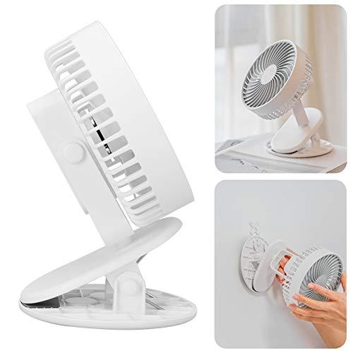 Mini ventilador, ventilador de escritorio, ventilador con clip, para viajes, dormitorio, oficina en casa(white, Pisa Leaning Tower Type)