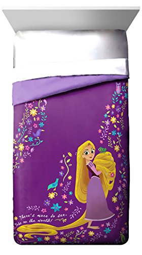 Disney Tangled There Is More 72' x 86' Twin/Full Reversible Comforter, Purple/Yellow