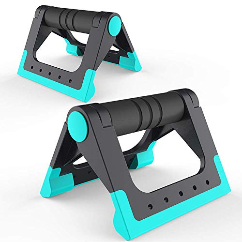 Push Up Bar Strength Workouts - Heavy Duty Pushup Handles with Cushioned Foam Grip for Floor...
