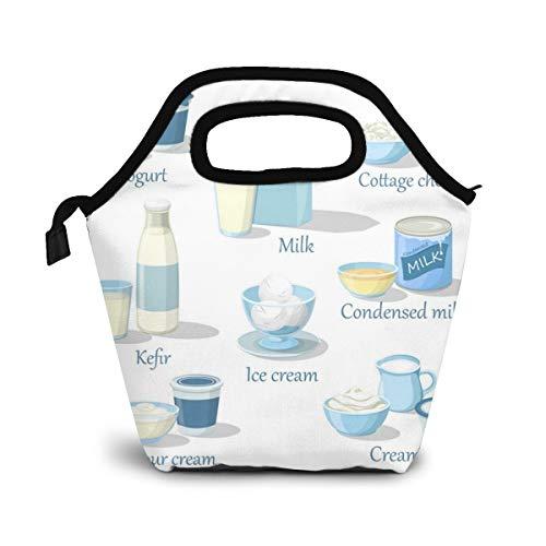 NiWCGP Joghurt und Kefir Cottage Cheese und EIS Lunch Tasche Isoliertasche Kühltasche Lunchtasche Thermische Lunch Tasche Mittagessen Tasche für Mädchen Kinder