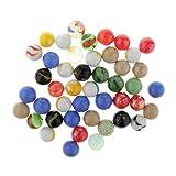 Hellery 45pcs Bola de Canicas Juguete Cuentas de Vidrio Decoración para El Hogar Ejecutar Juegos Suministros Multicolor