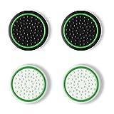 Bénéficiez d'une prise supplémentaire sur vos jeux avec les poignées de pouce pour les joysticks de vos contrôleurs. Ensemble de 4poignées de pouce au total, dont deux brillent dans l'obscurité Chaque poignée de pouce dispose de plusieurs points pou...