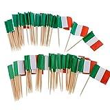 NIDONE 100 stücke Einweg Zahnstocher Flagge Dekoration & Papier Italien Flagge Picks Mini Frucht Cocktail Essen Zahnstocher Sticks Flagge