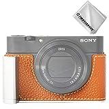 First2savvv Qualité supérieure Cuir étui Housse Appareil Photo numérique pour Sony RX100 VII...