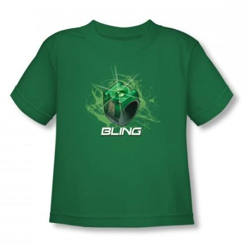 Green Lantern - Toddler Anneau Bling T-shirt En Kelly Green -, 4T, Kelly Green
