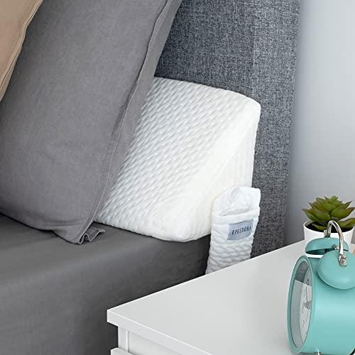 Bed Wedge Mattress Filler Pillow   Headboard & Gap Filler   Bolster Pillow Fill Between Your Headboard and Mattress   Don't Lose Your Pillow   by EPHEDORA (King)