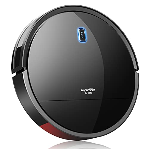 Enther Experobot Robot Vacuum Cleaner, Robotic Vacuum Cleaner with Gyro Lidar Navigation, 1300Pa Strong Suction, 6 Clean Modes, Self-Charging for Pet Hair Hard Floors, Carpet, Black