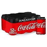 Coca-Cola Zero Azúcar - Refresco de cola sin azúcar, sin calorías - Pack 12 latas 330 ml