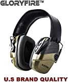 GLORYFIRE Electronic Shooting Earmuff Shooting Ear Protection Sound Amplification 6 Times Electric Earmuffs Perfect for Hunting and Shooting