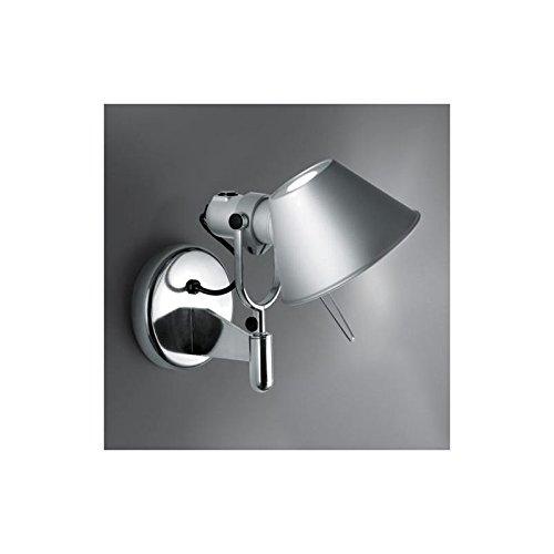 Artemide Tolomeo Faretto LED Wandleuchte, aluminium eloxiert 3000K mit Schalter