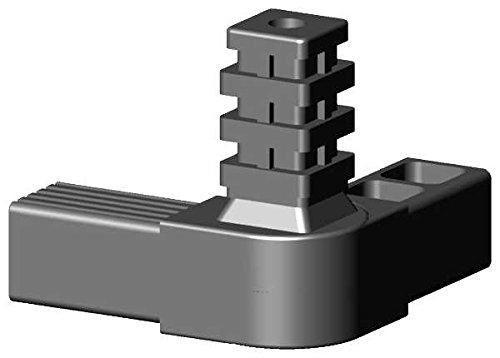 Winkel- Gelenkverbinder mit 1 Abgang für 25x25x1,5mm Aluminiumprofile - 45-195° - Arretierbar