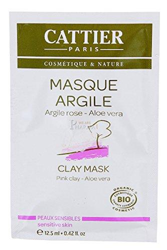 CATTIER Recharge 12 Unidoses Masque Argile Rose 12,5 ml