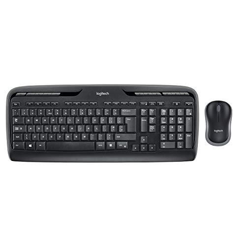 Logitech MK330 Kit Tastiera e Mouse Wireless per Windows, Wireless 2.4 GHz con Ricevitore USB Unifying, Mouse Portatile, Tasti Multimediali, Batteria Durevole, PC/Laptop, Layout Italiano QWERTY